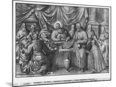Life of Christ, the Last Supper, Preparatory Study of Tapestry Cartoon-Henri Lerambert-Mounted Giclee Print