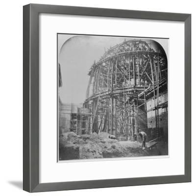 Construction of the British Museum Reading Room, 1854-57 (B/W Photo)-English Photographer-Framed Giclee Print