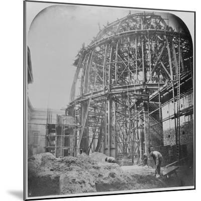 Construction of the British Museum Reading Room, 1854-57 (B/W Photo)-English Photographer-Mounted Giclee Print