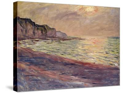 The Beach at Pourville, Setting Sun, 1882-Claude Monet-Stretched Canvas Print