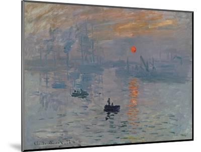Impression: Sunrise, 1872-Claude Monet-Mounted Premium Giclee Print