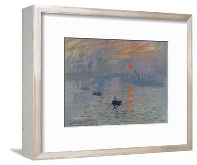 Impression: Sunrise, 1872-Claude Monet-Framed Premium Giclee Print