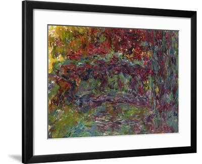 The Japanese Bridge at Giverny, 1918-24-Claude Monet-Framed Giclee Print