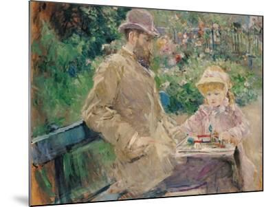 Eugene Manet (1833-92) with His Daughter at Bougival, C.1881-Berthe Morisot-Mounted Giclee Print