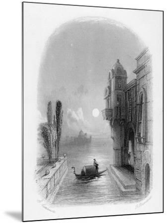 Moonlit Scene in Venice, Engraved by Robert Brandard, 1846 (Engraving)-George Cattermole-Mounted Giclee Print
