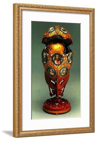The Romanov Tercentenary Faberge Egg, 1913 (Mixed Media)-G. Vigstrem-Framed Giclee Print