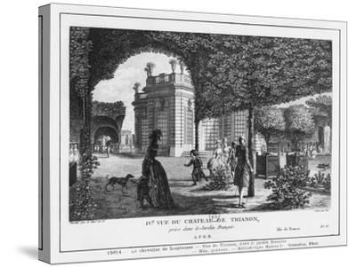 Fourth View of Trianon, Taken in the French Garden, Engraved by Francois Denis Nee (1732-1817)-Louis-Nicolas de Lespinasse-Stretched Canvas Print