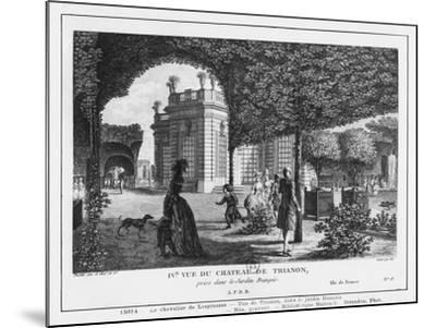 Fourth View of Trianon, Taken in the French Garden, Engraved by Francois Denis Nee (1732-1817)-Louis-Nicolas de Lespinasse-Mounted Giclee Print