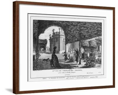 Fourth View of Trianon, Taken in the French Garden, Engraved by Francois Denis Nee (1732-1817)-Louis-Nicolas de Lespinasse-Framed Giclee Print