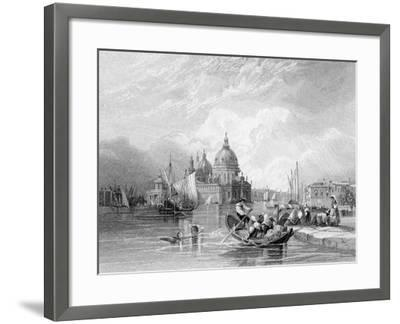The Grand Canal, Venice, Engraved by J. Thomas, C.1829 (Engraving)-Charles Bentley-Framed Giclee Print
