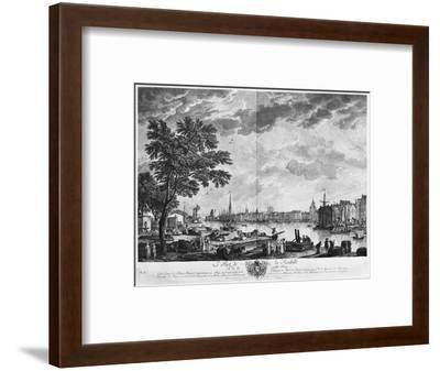 Port of La Rochelle, Seen from the Small Shore, Series of 'Les Ports De France'-Claude Joseph Vernet-Framed Premium Giclee Print