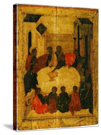 The Last Supper (Tempera and Gold Leaf on Panel)-Russian-Stretched Canvas Print