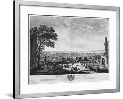Town and Port of Toulon, Seen from Halfway Down the Mountain Behind-Claude Joseph Vernet-Framed Giclee Print