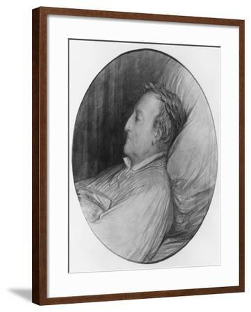 Gioacchino Rossini on His Deathbed, 1868 (Charcoal and Gouache Highlights on Paper)-Gustave Dor?-Framed Giclee Print