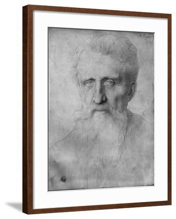 Head of a Man with Long Beard, 1898 (Silverpoint on White Cardboard)-Alphonse Legros-Framed Giclee Print
