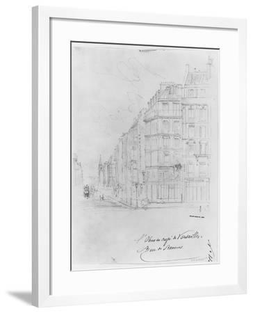 Album of the Siege of Paris, Shell of Cafe De Versailles, Rue De Rennes-Gustave Dor?-Framed Giclee Print