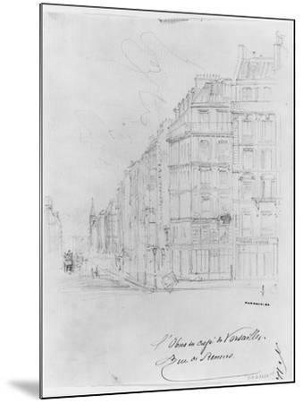 Album of the Siege of Paris, Shell of Cafe De Versailles, Rue De Rennes-Gustave Dor?-Mounted Giclee Print