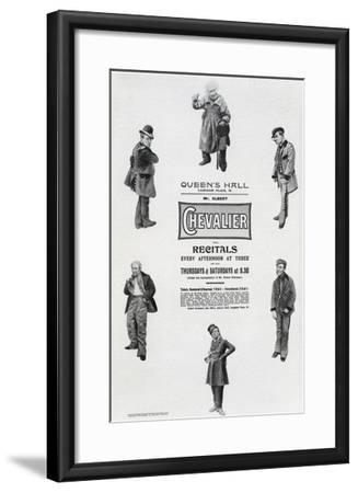 Poster Advertising Albert Chevalier's Recital at the Queen's Hall (Engraving)-English-Framed Giclee Print