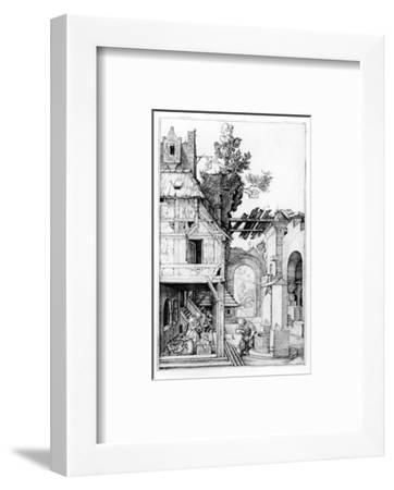 The Nativity, C.1504 (Engraving)-Albrecht D?rer-Framed Premium Giclee Print