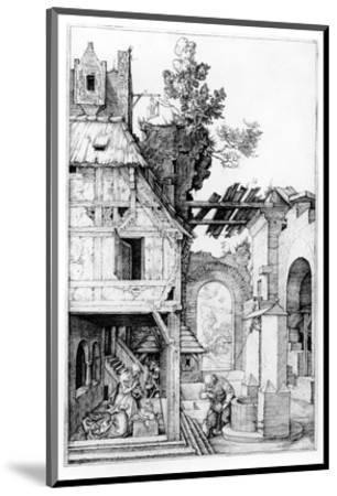 The Nativity, C.1504 (Engraving)-Albrecht D?rer-Mounted Premium Giclee Print