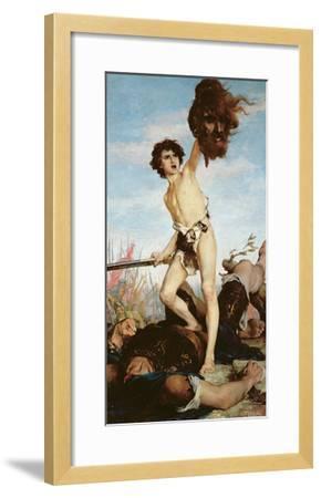 David Victorious over Goliath, 1876-Gabriel-Joseph-Marie-Augustin Ferrier-Framed Giclee Print