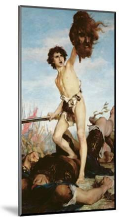 David Victorious over Goliath, 1876-Gabriel-Joseph-Marie-Augustin Ferrier-Mounted Giclee Print