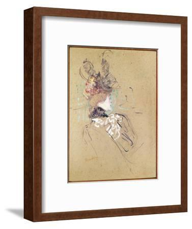 Profile of a Woman, 1896 (Oil on Card)-Henri de Toulouse-Lautrec-Framed Premium Giclee Print