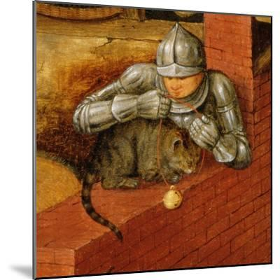 Knight Putting a Bell on a Cat, Detail from 'The Flemish Proverbs'-Pieter Brueghel the Younger-Mounted Giclee Print