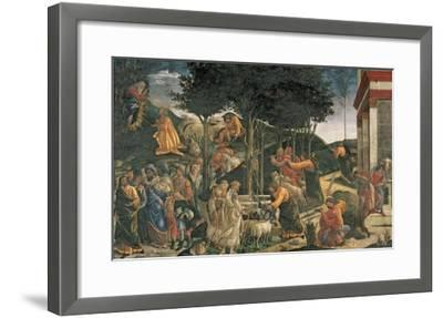 The Youth of Moses, in the Sistine Chapel, 1481 (Fresco) (For Detail See 315896)-Sandro Botticelli-Framed Giclee Print