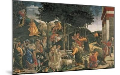 The Youth of Moses, in the Sistine Chapel, 1481 (Fresco) (For Detail See 315896)-Sandro Botticelli-Mounted Giclee Print