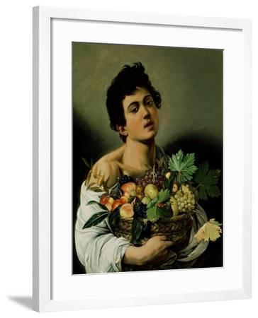 Youth with a Basket of Fruit, 1594 (Detail)-Caravaggio-Framed Giclee Print