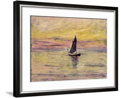 The Sailing Boat, Evening Effect, 1885-Claude Monet-Framed Giclee Print