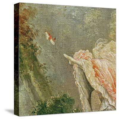 The Swing (Detail)-Jean-Honor? Fragonard-Stretched Canvas Print