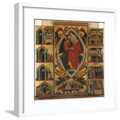 Tryptic of the Virgin (See also 279477 and 279478) (Oil on Panel)- Maestro di Cesi-Framed Giclee Print