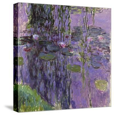 Nympheas, 1916-19-Claude Monet-Stretched Canvas Print