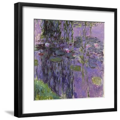 Nympheas, 1916-19-Claude Monet-Framed Giclee Print