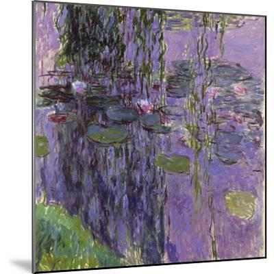Nympheas, 1916-19-Claude Monet-Mounted Giclee Print