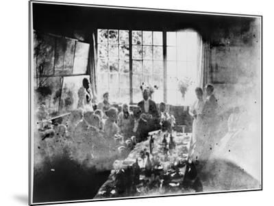 Wedding Meal of Suzanne Hoschede and Theodore Earl Butler, 20 July 1892 (B/W Print)--Mounted Giclee Print