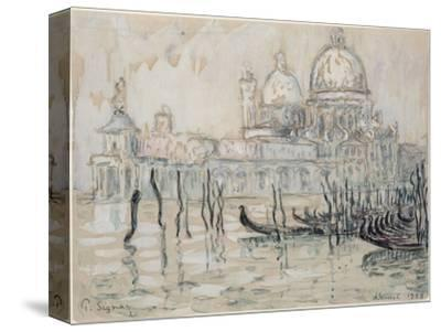 Venice Or, the Gondolas, 1908 (Black Chalk and W/C on Paper)-Paul Signac-Stretched Canvas Print