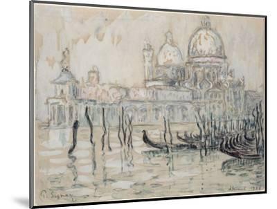 Venice Or, the Gondolas, 1908 (Black Chalk and W/C on Paper)-Paul Signac-Mounted Premium Giclee Print