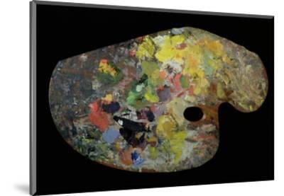 Monet's Palette (Wood)-French-Mounted Premium Giclee Print