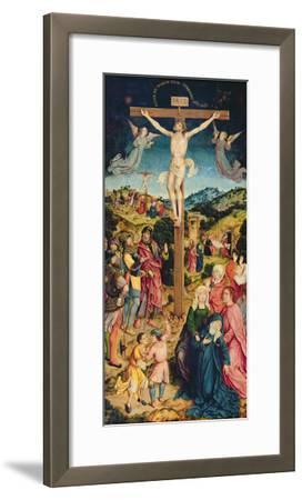 Christ on the Cross (Oil on Panel)-Goossen Weyden-Framed Giclee Print