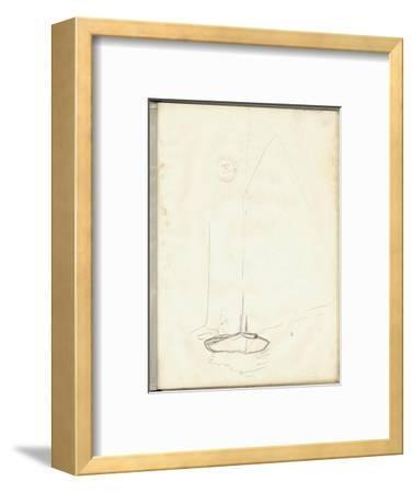 A Clipper of Argenteuil (Pencil on Paper)-Claude Monet-Framed Premium Giclee Print
