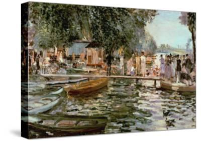 La Grenouillere, 1869-Pierre-Auguste Renoir-Stretched Canvas Print