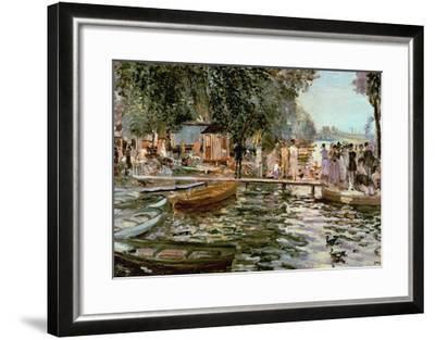 La Grenouillere, 1869-Pierre-Auguste Renoir-Framed Giclee Print
