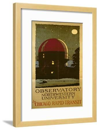 Observatory Northwestern University, Poster for the Chicago Rapid Transit Company, USA, 1925-Wallace Swanson-Framed Giclee Print
