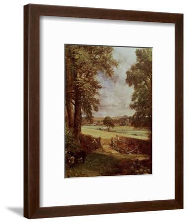The Cornfield, Detail of the Harvester, 1826-John Constable-Framed Premium Giclee Print