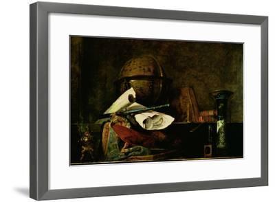 Allegory of Science-Jean-Baptiste Simeon Chardin-Framed Giclee Print