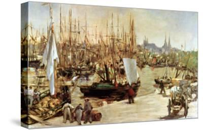 The Port of Bordeaux, 1871-Edouard Manet-Stretched Canvas Print