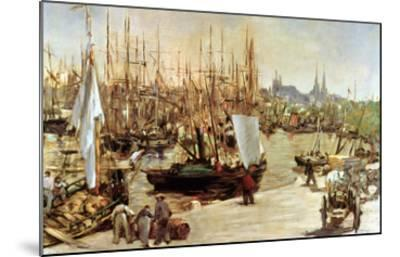 The Port of Bordeaux, 1871-Edouard Manet-Mounted Giclee Print